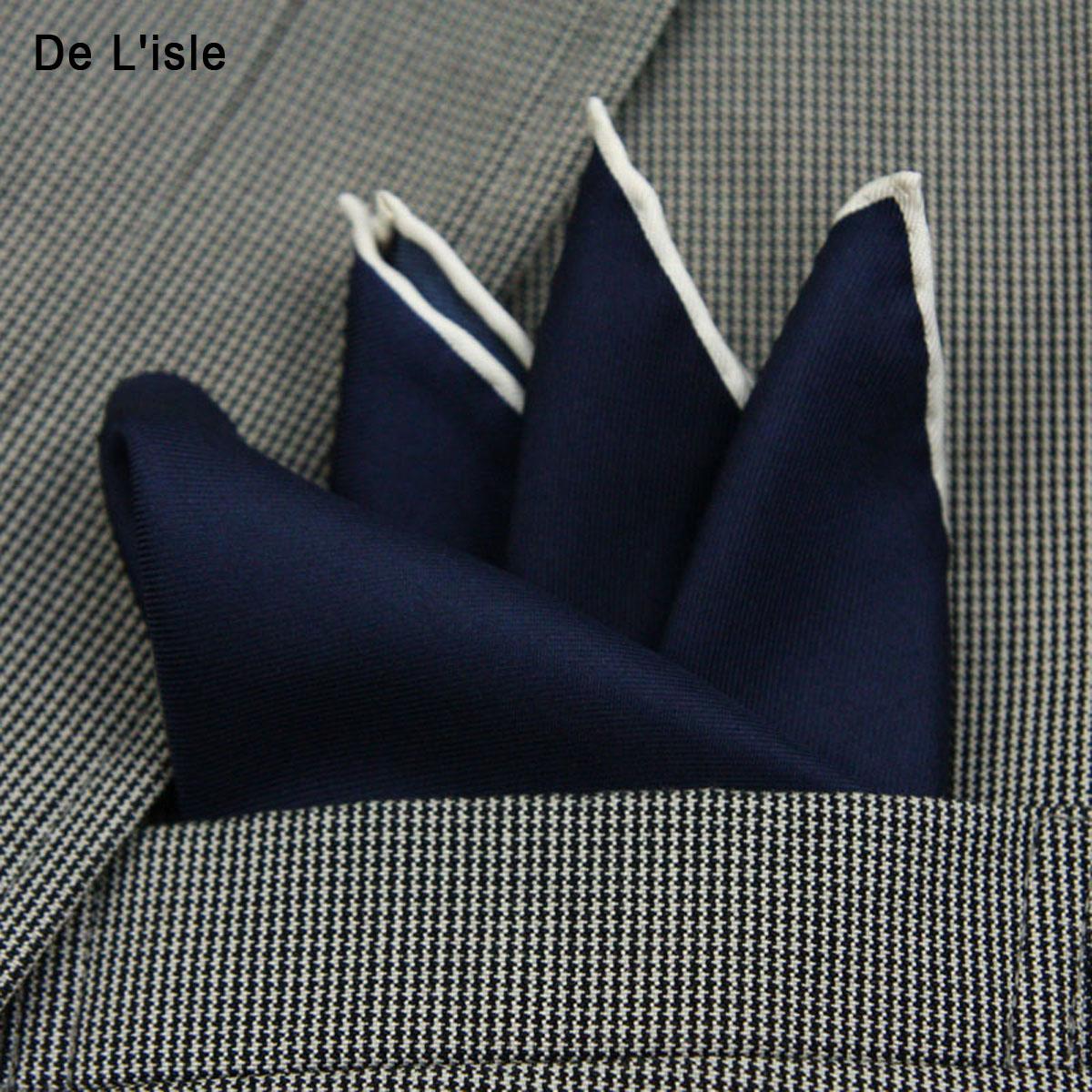 新品 De Lisle 男士真絲手帕 口袋巾 重磅桑蠶絲 西服袋巾