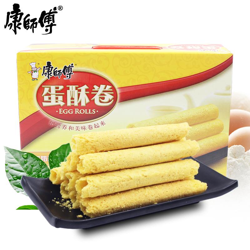 ~天貓超市~康師傅蛋酥卷384g 盒香濃奶油味家庭分享裝年貨