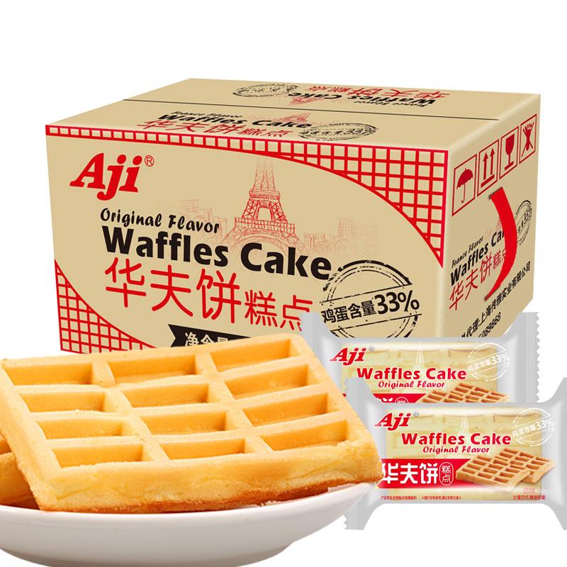 Aji法式風味華夫餅1kg量販裝蛋糕點零食點心早餐