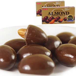 Cheap South Korea imported chocolate Lotte Almond Chocolate Almond Snack large pieces of 46 g