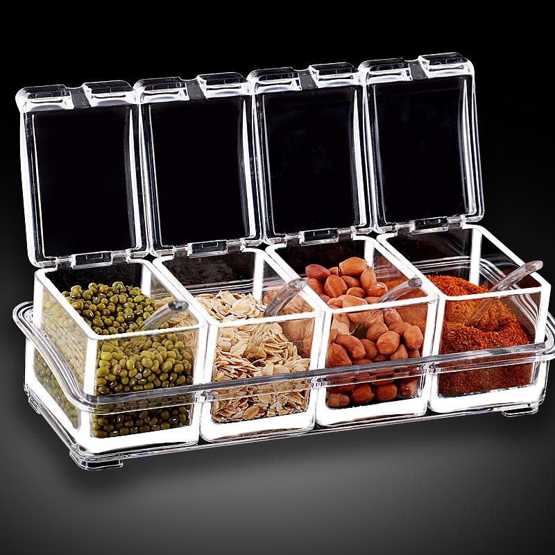 Континентальные Приправы Специи box специй jar набор кухне соли шейкер бутылка акриловые специй банки сезона box