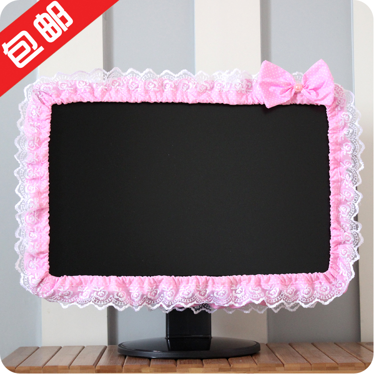 Бесплатная доставка ткань компьютер крышка кружево дисплей круг экран крышка телевизор крышка календарь рамка пылезащитный чехол