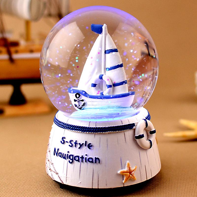 Хрустальный шар музыкальная шкатулка шанхай, пекин, тяньцзинь музыкальная шкатулка творческий день рождения подарок девочки подруга отдавать дети друг день святого валентина подарок