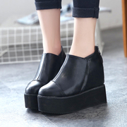 Fall 2015 the new European platform platform platform wedges shoes women shoes shoes shoes students Chao