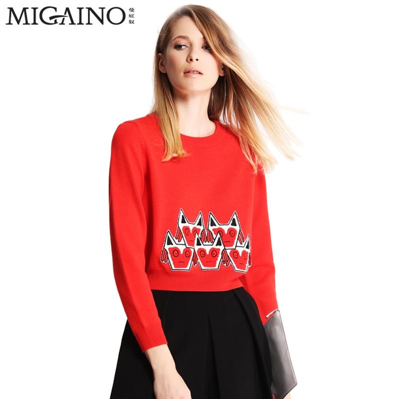 Человек я (часть женского имени) раб качественная продукция из специализированного магазина 2016 год весна новый короткий с длинными рукавами тонкий хеджирование свитер MG1WH053-768