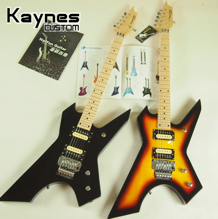Restricted area package mail genuine Kaynes 24 double heteromorphic shake electric guitar set can be cut shoot single killer electric guitar
