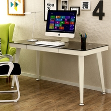Computer desk desktop home simple tempered glass desk Nordic writing desk simple learning desk desk