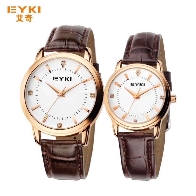 Гравюра качества мужчин и женщин пара часы алмаз студентов корейских моды водонепроницаемый кожаный ремешок Кварцевый смотреть
