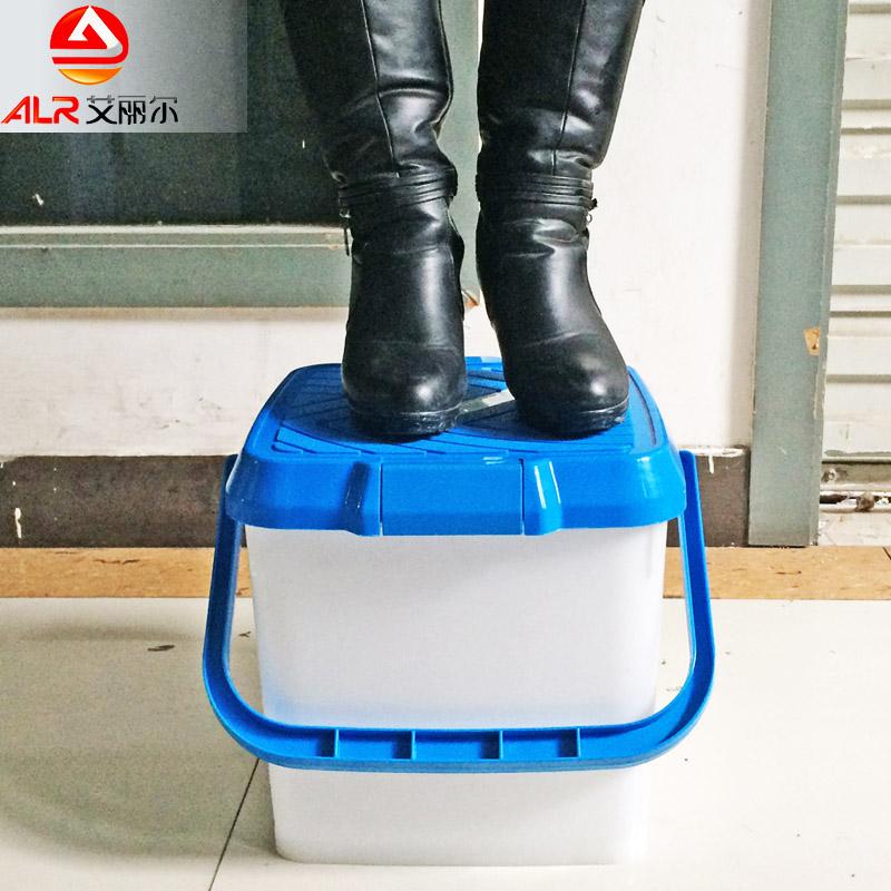 洗車水桶塑料桶車用水桶釣魚桶車載洗車桶便攜式汽車水桶可站人