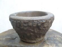 古玩杂项老石头老石器石质烟缸水仙盆香炉老石碗石臼5891号