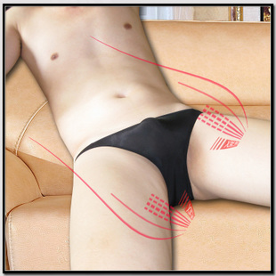 Buy one get one men s underwear male ice silk briefs transparent sexy low cut one piece seamless belts youth