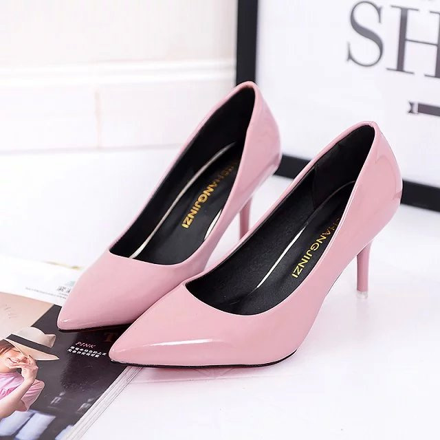 2020 new single shoes large spring small womens shoes 40 medium heel 41 pointed 42 nude high heels slim heel womens fashion