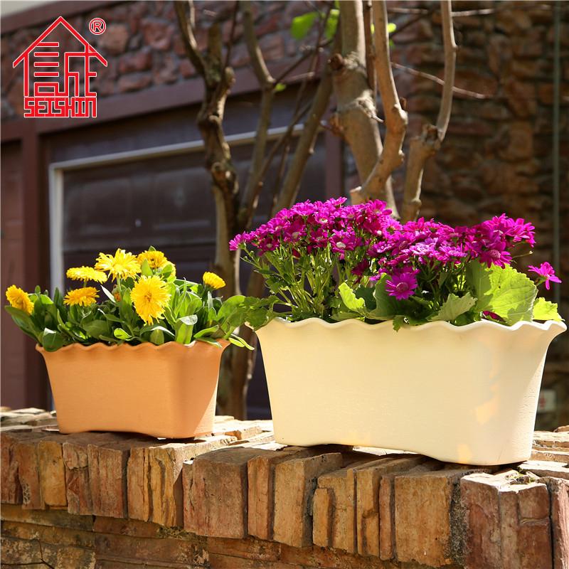 诚信塑料花盆型号全HG-3156 3157 3158长方形花槽 花型花卉种植