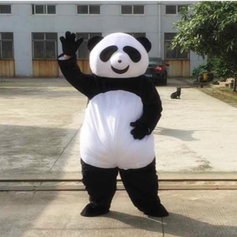 Специальные мультфильм куклы одежду панда гигантская панда ходьбы куклы мультфильм костюмы для почты
