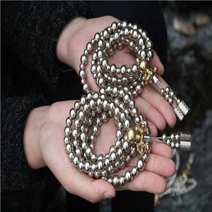 Security and peace of self-defense weapon for self-defense outdoor all-metal thunder beads prayer beads self-defense equipment agents alloy texture