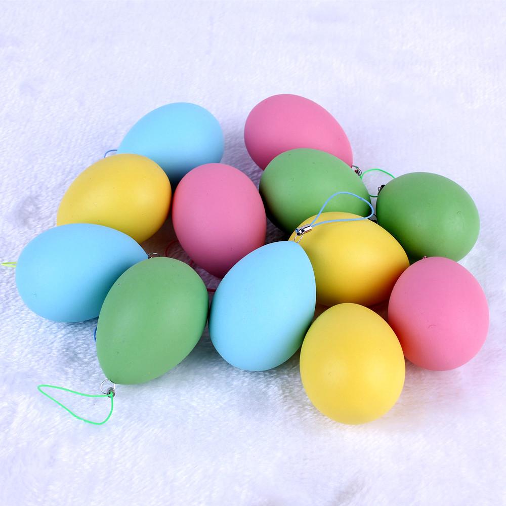 6g卡通彩绘仿真鸡蛋塑料彩蛋儿童diy手工手绘画涂色复活节彩蛋