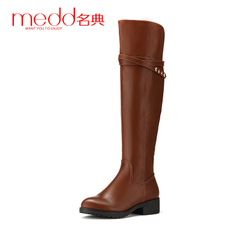 Name code 2015 winter boots high boots with knee-length boots, biker boots side zipper Martin boots