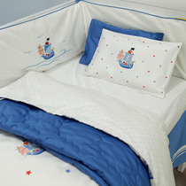 Blue Platinum toddler small pirate Boat Baby bed multi-piece set of cotton bedding