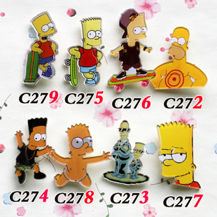 Manufacturers selling low quality acrylic brooch badge Japanese Harajuku Harajuku badge coolest Simpson