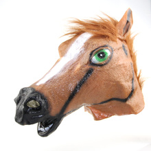 A Halloween party mask The horsehead mask The horse people head Jiangnan style COS Halloween mask