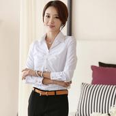春秋装新款正装女士打底衫白衬衣韩版职业长袖雪纺衬衫女工作服
