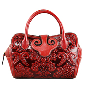 Beautiful Dragon original female header layer of leather embossed leather satchel 2015 new luxury ethnic shoulder bag