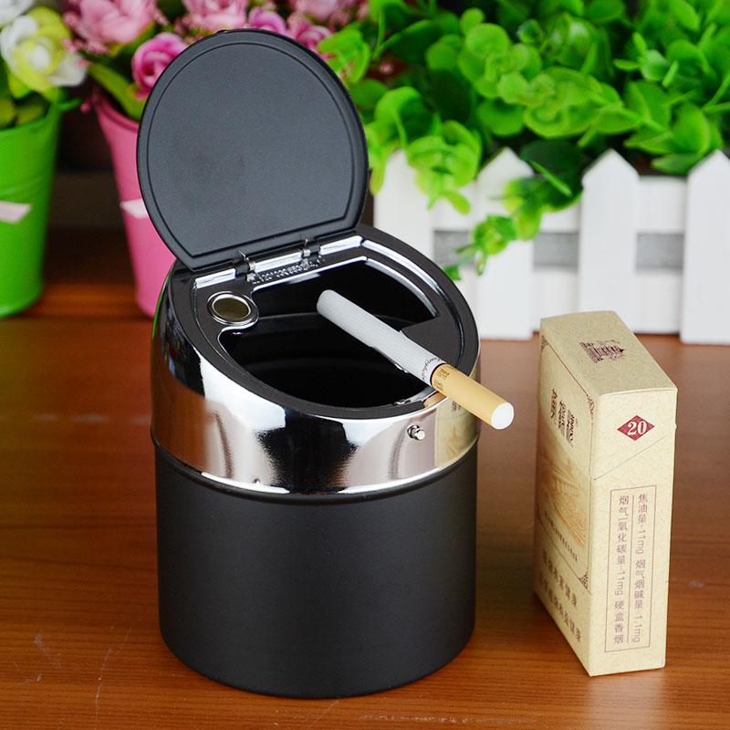 家居摆件收纳大号不锈钢带盖烟灰缸 创意个性时尚欧式礼物送男友,可领取1元天猫优惠券