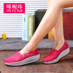 MI Ka fall 2015 air lace canvas shoes girl Korean version of lazy sets foot shoes flat shoes women's tide
