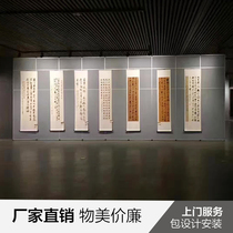 Shanghai Gallery Display Board activities partition Mobile screen showroom exhibition Board folding door 65-type track manufacturers