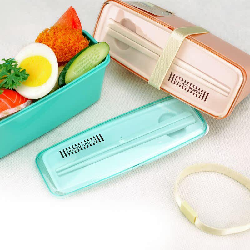 Корейский один слой конфеты цвет бенто коробка суши ланч боксы с палочками Ms небольшой мощности микроволновой