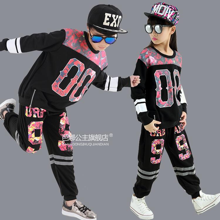兒童爵士舞演出服男女少兒hiphop嘻哈街舞服裝男童 表演服