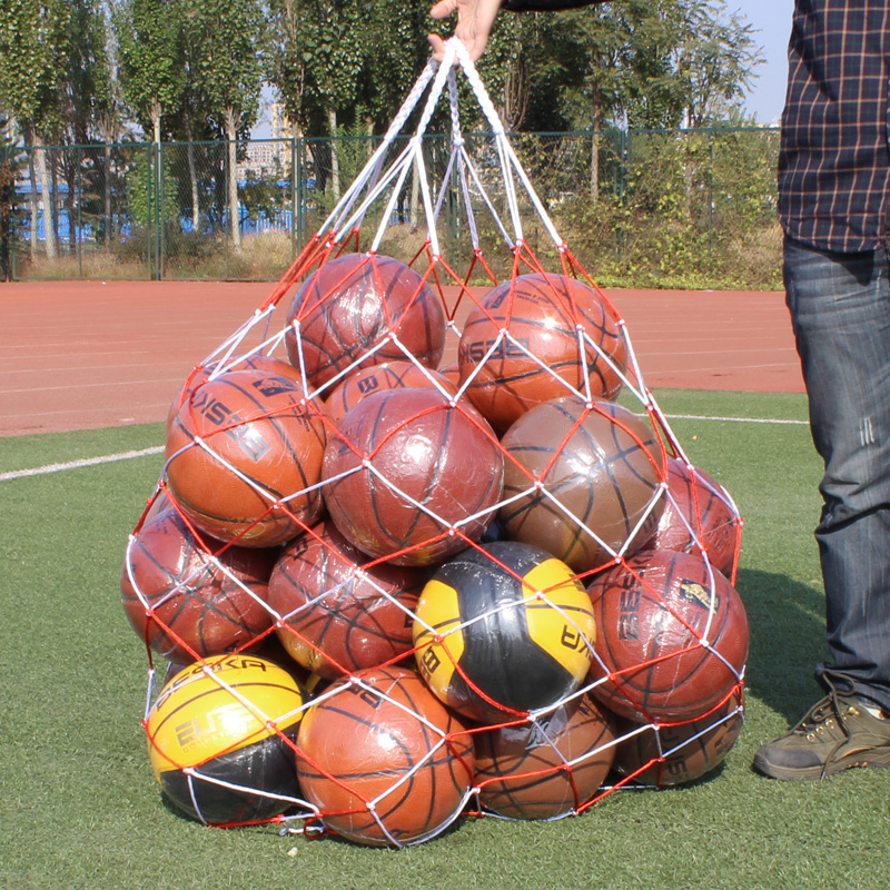百斯卡大球兜裝籃球網兜 大容量球袋 加粗尼龍網袋足球排球網袋