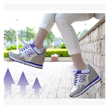 The spring and autumn period and the han edition leather increased permeability invisibility within the new 8-10 cm high shoes leisure sports shoes for single shoes