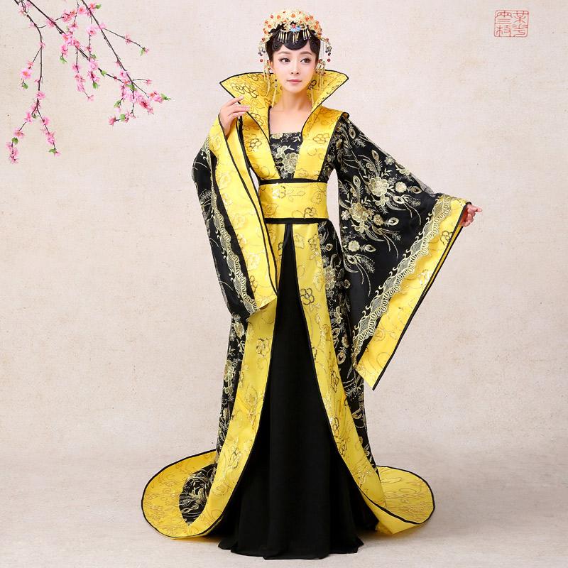 古装服装皇后贵妃拖尾2018新款公主古代舞台汉服摄-古装摄影(漫舞轻纱旗舰店仅售350元)