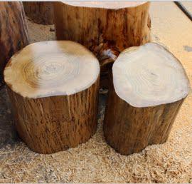 木墩 实木原木凳 圆木座墩凳子 树墩支架 天然树根茶几 枣木柯木