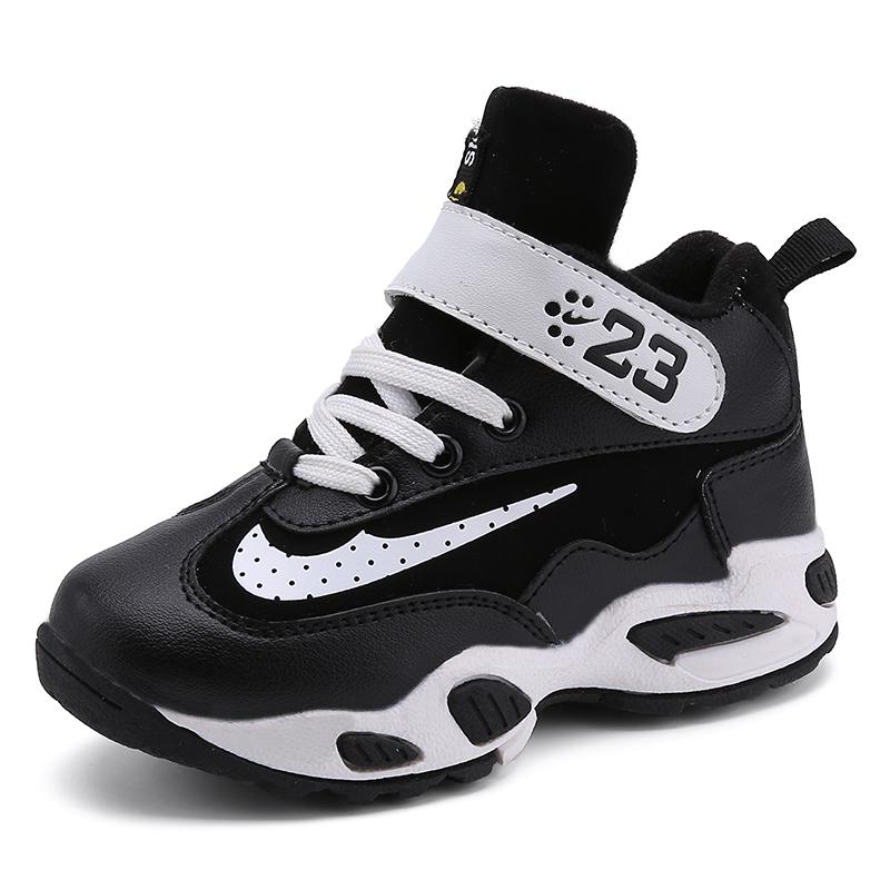 兒童加絨 鞋 保暖男童 鞋女童高幫跑步鞋棉鞋