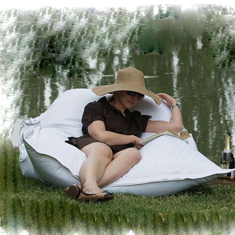 Levmoon outdoor lazy sofa lawn bean bag fashion personality nylon garden swimming pool lazy bag waterproof