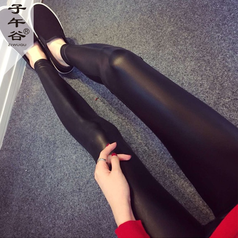 Ziwu Долина осени 2015 женщин Европы и Джокер тонкий кожаные штаны носить кожаные брюки леггинсы Тайд