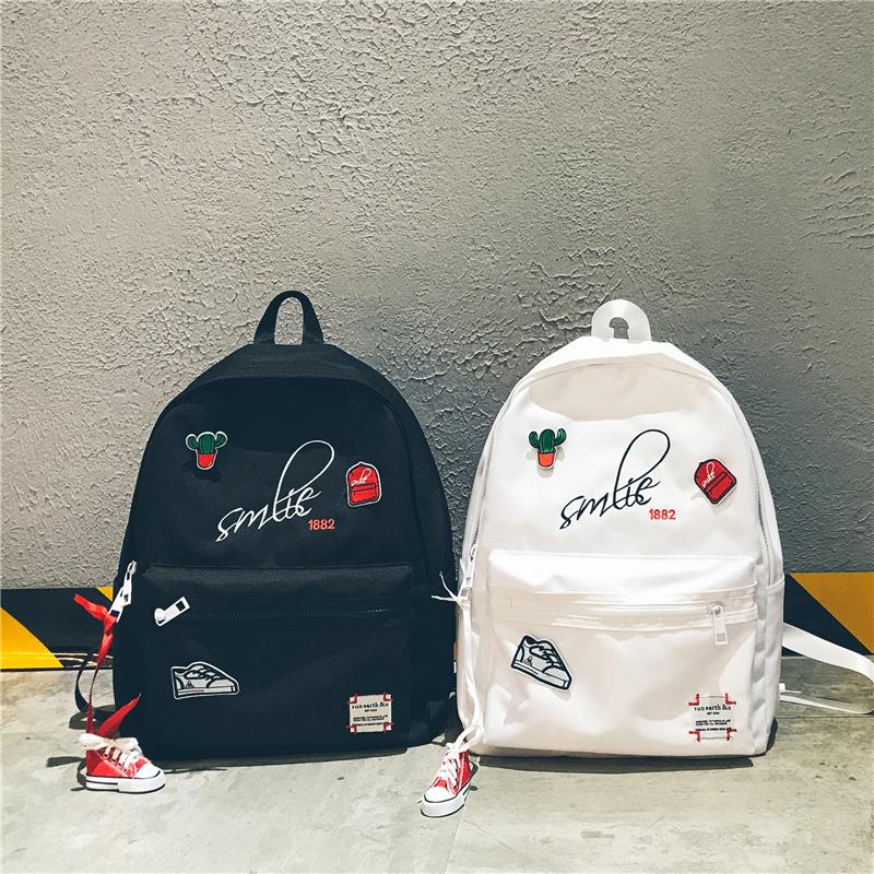 Harajuku стиль кампус рюкзак прилив бренд портфель мужской и женщины студент корейский милый маленький побег свежий департамент любители рюкзак