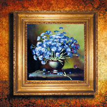 At 3 d new ribbon embroidery hang a picture to the sitting room the bedroom bouquets of flowers series new simple three-dimensional cross-stitch