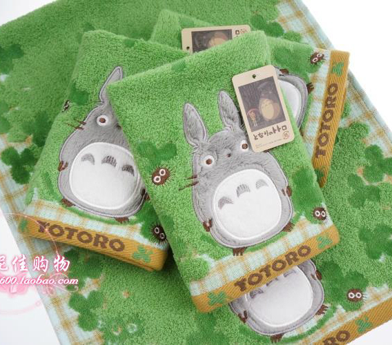 Export to Japan green cotton handkerchief small square towel towel face towel