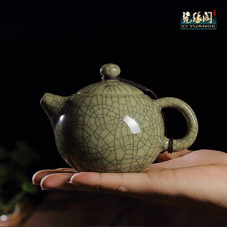 Longquan Селадон керамический чайник языке чайный набор чайник горшок antiquata горшок фиолетовый песок чай фильтр чайника события электронной почты