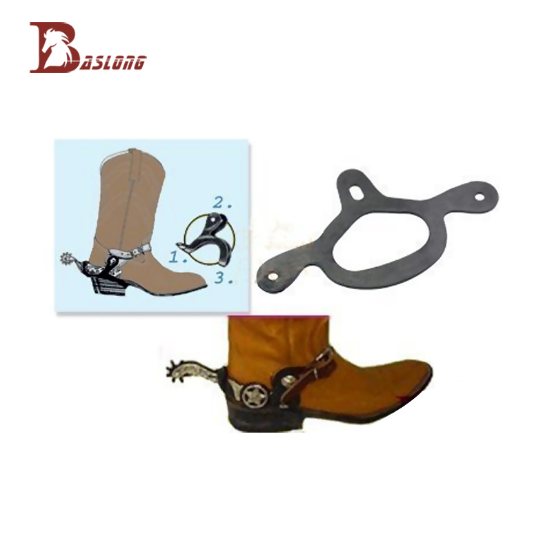 Конные шпоры с западными шпорами Конные лошади Шпоры Резиновые эластичные нескользящие Рамка поддержки