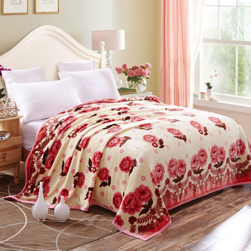 秋 珊瑚絨毯子雙單人毛毯加厚雙層 蓋毯法蘭絨午睡毛巾被毯