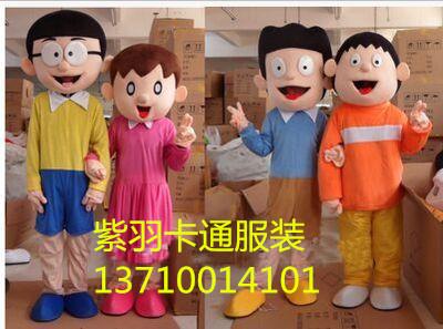 新款静香大雄卡通道具行走卡通人偶服装玩偶道具卡通动漫玩偶服图片