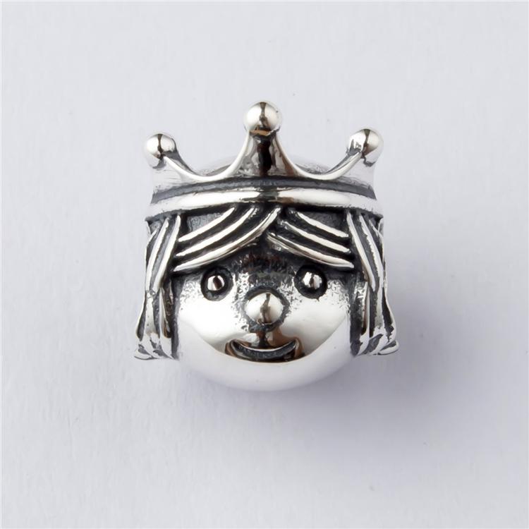 潘家高品质S925纯银手链串饰品 尊贵的公主串珠DIY纯银配件珠子
