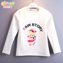 Brand of children's wear wave of new fund of 2015 autumn outfit some cartoon bear children long sleeve T-shirt X01 render unlined upper garment of the girls