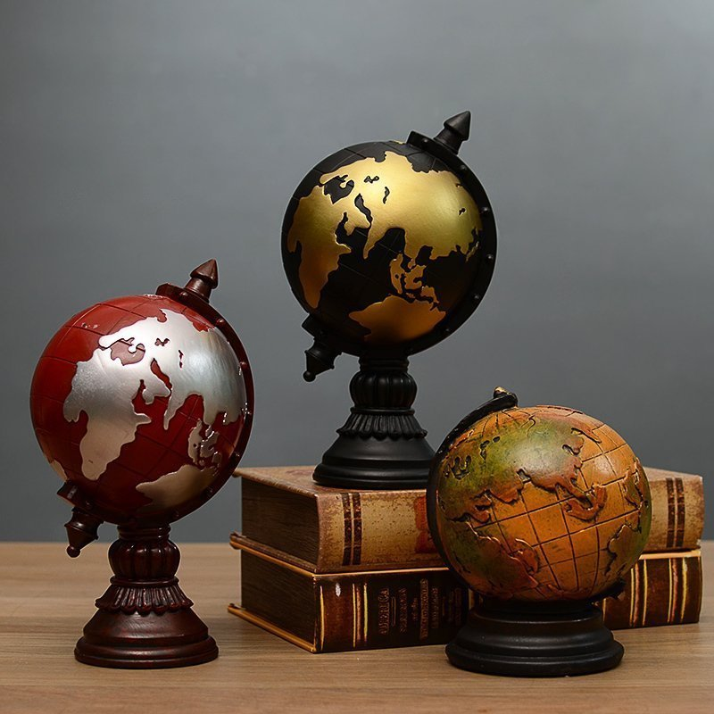 歐式複古地球儀模型裝飾品擺設 家居臥室書房辦公室桌麵擺件