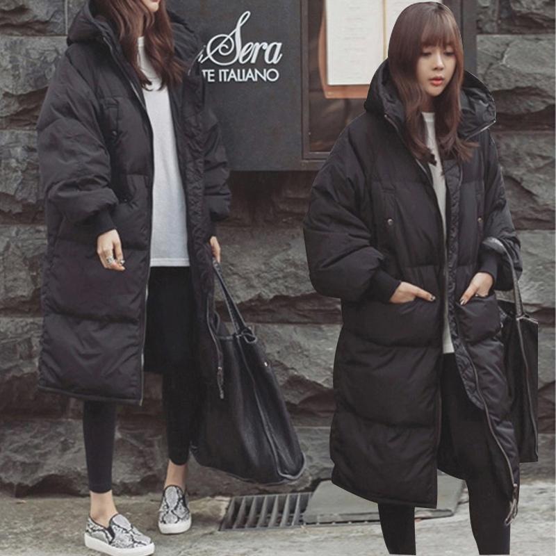 В обратных сезон зима мисс студент подбитый девочки длинная модель корейский сгущаться тонкий ватник большой двор хлопок хлеб одежда
