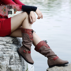 Chinese dance authentic fall leg cloth boots, exotic boots increase the high school boot cowboy boots charm